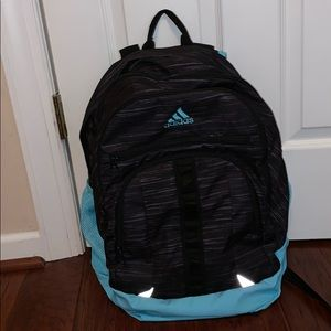 Adidas multi zipper book bag